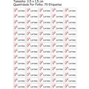 70 Etiquetas Termocolante 3,5x1,5 Uniforme Escolar - Coroa