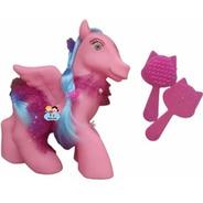 Brinquedo  Poney Cavalinho Com Asas, Cabelos E Acessórios
