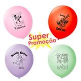 50 Balões Enfeite De Mesa Frozen Minions Minie Hulk Masha