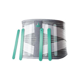 Faja Lumbar Doble Soporte Elastico Deluxe 4 Varillas 9 Pulg