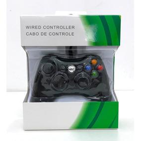 Controle C/ Fio Xbox 360 E Pc Slim Joystick Notebook Usb