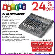 Samson L1200 Consola Mixer 12 Canales Con Efectos Usb Outlet