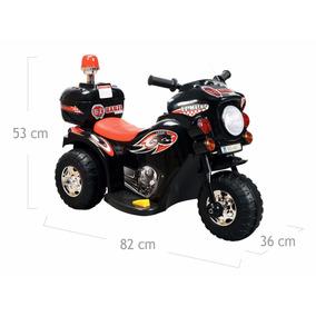Moto Elétrica Infantil Para Criança De 2 A 4 Anos Preto