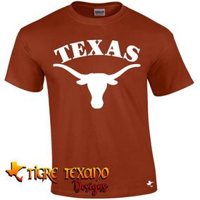 Playera Texas Longhorns Cuernos Largos2 Tigre Texano Designs