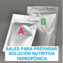 1 Kg Sal Para Solución Nutritiva Hidroponia - Hidropónica