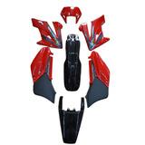 Kit Carenagem Adesivado Honda Xr 250 Tornado 2008 Vermelho