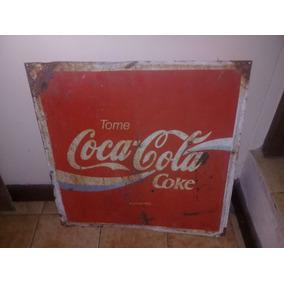Antiguo Cartel De Chapa Coca Cola Original