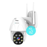 Kit 2 Camaras Seguridad Ip Exterior Wifi Domo Inalambrica