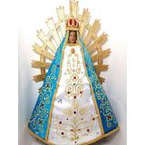 Imagen Religiosa - Virgen De Lujan Con Vestido 38 Cm