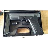 Glock Policial Gir Gema Goe 9mm Con Laser Y Funda