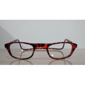 Óculos Click Ima Armação Colocar Grau Magnético Rajado Onça
