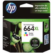 Cartucho Hp 664 Xl Color F6v30al Original