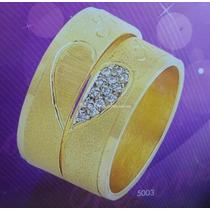 Par Alianzas Casamiento Oro 18 K 10 Gs- Nombre Y Corazòn