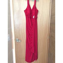 Vestido Largo Rojo Nina Ferre