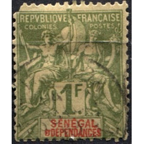 3008 Senegal Comercio 1 Fr Usados 1892-03