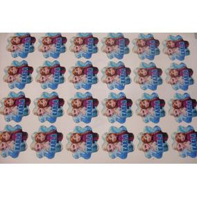 Oblea De Azúcar Con Corte Personalizado Cupcakes Gelatinas