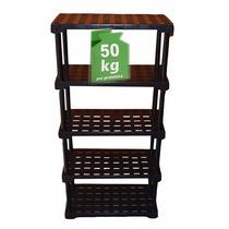 Estante Plástica 5 Níveis Preto - Capacidade - 250 Kg