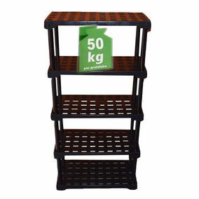 Estante Plástica 5 Níveis Preto - Cap.250 Kg Frete Grátis !