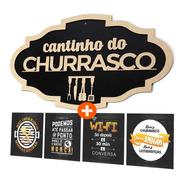 Placa Decorativa Cantinho Do Churrasco Madeira Mdf