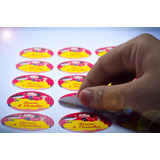 60 Adesivos Personalizados Para Mini Baleiro + Frete Grátis