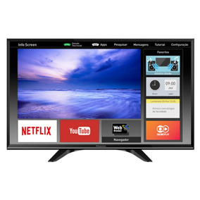 Smart Tv Led 32 Panasonic Hd, Dual Core - Tc32es600b