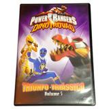 Dvd Power Rangers Dino Trovão Triunfo Triássico Volume 5
