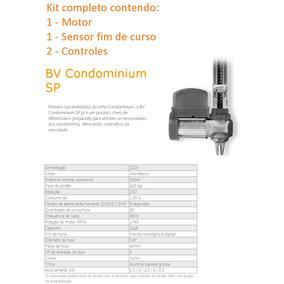 Kit Motor Portão Basculante Ppa Bv Condominium Sp Veloz 9s