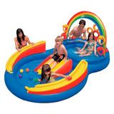 Piscina Inflável Infantil Bebê Playground 22l Intex 57453