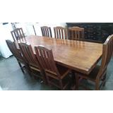 Mesa De Madeira Maciça Com 6, 8 Ou 10 Cadeiras (prancha Inte