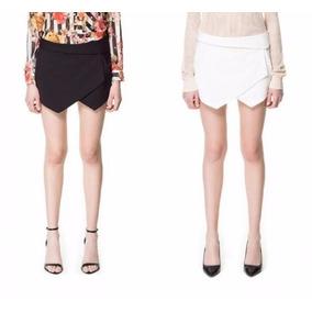 Short Saia De Sarja Assimétrica Igual Zara Linda Demais Blog