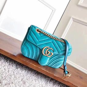 Bolsa De Veludo Gucci - Made In Italy 26cm