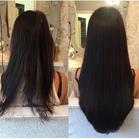 Aplique Mega Hair Cabelo Humano Preto Alongamento