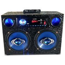 Caixa De Som Residêncial Amplificada Usb Sd Rádio E Auxiliar