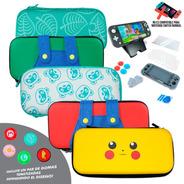 Kit Estuche Nintendo Switch Lite Protector Rigido Portatil