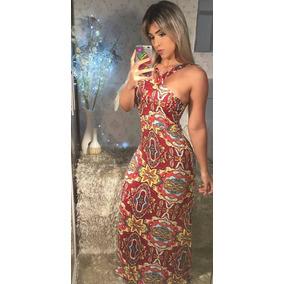 Promoção Só 49,99 Vestido Feminino Longo Casual Com Alças