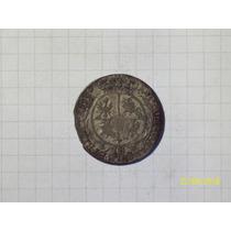 Polonia Augusto Ii Rey 1755 Plata 4,7 Gr 25 Mm