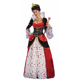 Foro De Alice In Wonderland Reina De Corazones Traje, Rojo,