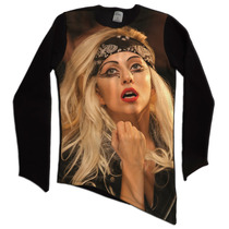 Moletom Blusa Oversized Long Line T-shirt Bico Lady Gaga