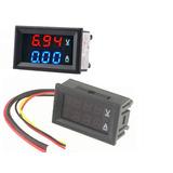 Voltímetro Amperímetro Digital Dc 100v 10a Som Automotivo