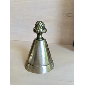 Campana Antigua O Llamador De Bronce Macizo Estilo Ingles