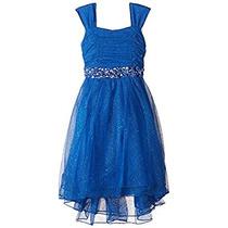 Vestido Azul De Niña Para Fiesta Talla 4