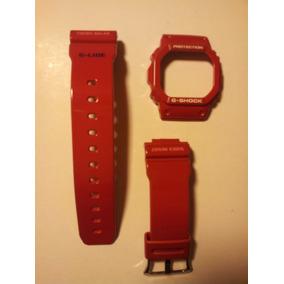 Kit Capa Pulseira Casio Gwx 5600c G-shock G-lide Vermelho