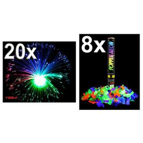 Kit Festa Abajur Confete Neon Brilha Luz Negra Fluorescente 9d6439c171