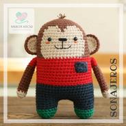 Sonajero Monito Crochet - Tienda Nariz De Azúcar