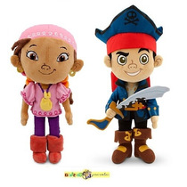 Captain Jake Pirata E Izzy Plush - Original Disney