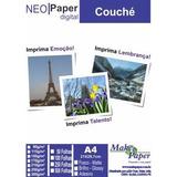 Papel Couche Brilho 300g A4 - Embalagem Com 100 Folhas