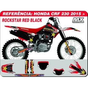 Adesivos-crf 230 2015 - Rockstar Red Black - Qualidade 3m