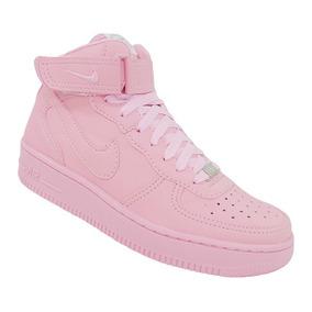 Tênis Feminino Nike Air Force 1 Mid 07 Rosa Original
