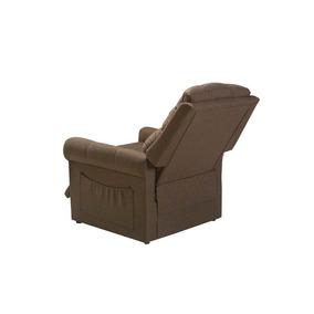 Poltrona Cadeira Reclinável Herval Turin, Linho Marrom