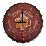 Reloj De Chapa Vintage Cerveza 40 Cm - Hay De Todo!